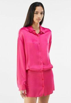 Bershka - Blusenkleid - neon pink