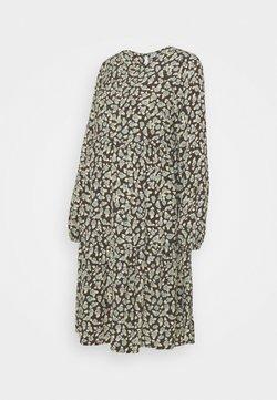 Pieces Maternity - PCMUMISKA DRESS - Vestido informal - black olive/mint green