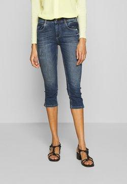 TOM TAILOR - KATE CAPRI - Jeans Shorts - random bleached  blue