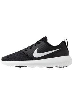 Nike Golf - ROSHE - Golfkengät - black/metallic white/white