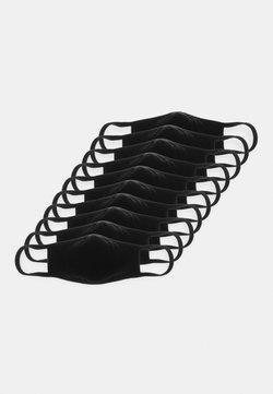 Urban Classics - FACE MASK 10 PACK - Stofmaske - black