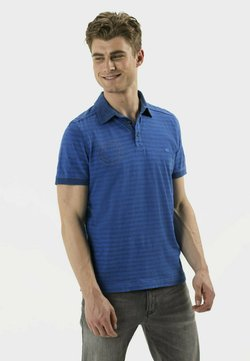 camel active - KURZARM - Poloshirt - strong blue
