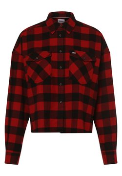 Tommy Jeans - Hemdbluse - rot schwarz