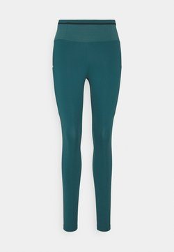 Nike Performance - EPIC LUXE TRAIL - Tights - dark teal green/reflective silver