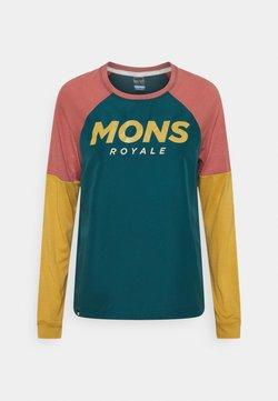 Mons Royale - TARN FREERIDE WIND  - Langarmshirt - deep teal/pink clay/honey