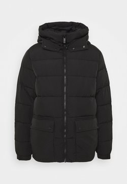 Scotch & Soda - MID-LENGHT HOODED JACKET - Winterjacke - black