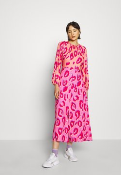 Closet - CLOSET GATHERED NECK A-LINE DRESS - Sukienka koktajlowa - pink
