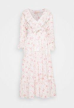 byTiMo - SLUB BUTTON DOWN DRESS - Freizeitkleid - pink