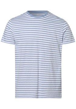 Nils Sundström - T-Shirt print - hellblau weiß