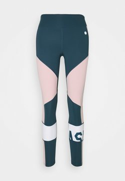 ASICS - BLOCK CROPPED - Tights - magnetic blue