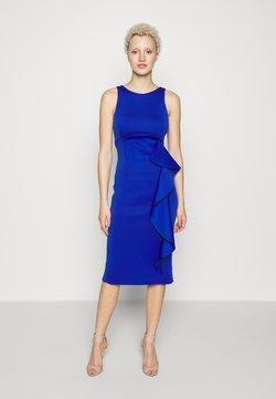 True Violet Tall - SLEEVELESS FRILL MIDI DRESS - Vestido de tubo - cobalt