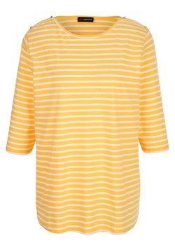 MIAMODA - Langarmshirt - gelb weiß