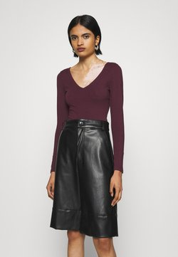 New Look - Langarmshirt - dark burgundy