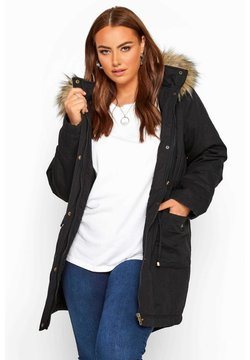 Yours Clothing - Parka - black
