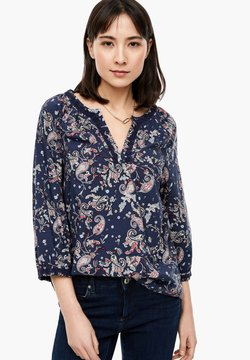 s.Oliver - BLUSE MIT PAISLEY-MUSTER - Bluse - navy