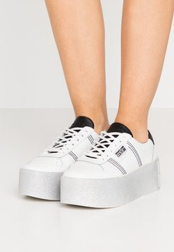 Versace Jeans Couture - PLATFORM SOLE - Sneakers basse - bianco ottico