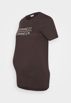 Pieces Maternity - PCMSANICCA TEE - Camiseta estampada - mole