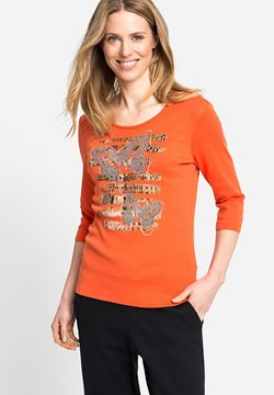 Olsen - MIT SCHMETTERLINGEN UND ABSTRAKTEM ANIMALPRINT - Langarmshirt - orange