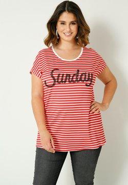 Sara Lindholm by HAPPYsize - T-Shirt print - rot weiß