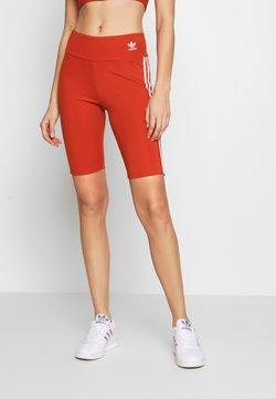 adidas Originals - ORIGINALS HIGH WAISTED TIGHTS - Shorts - lush red/white