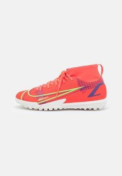 Nike Performance - MERCURIAL 8 ACADEMY TF UNISEX - Voetbalschoenen voor kunstgras - bright crimson/metallic silver