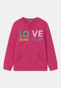 Benetton - Hoodie met rits - pink