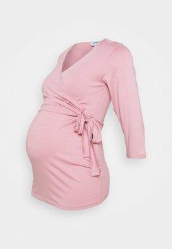 Dorothy Perkins Maternity - 3/4 SLEEVE BALLET WRAP - Camiseta de manga larga - blush