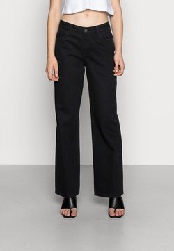 Noisy May - NMAMANDA WIDE JEANS - Jeans relaxed fit - black denim