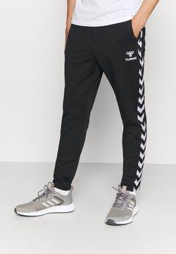 Hummel - NATHAN TAPERED PANTS - Jogginghose - black