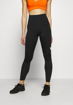 Nike Performance - SWOOSH-RUNNING TIGHT  - Medias - black/reflective silver
