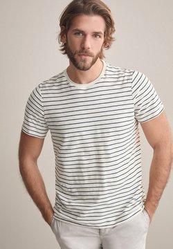 Falconeri - FLAMMGARN - T-Shirt print - ecru/blu