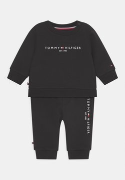 Tommy Hilfiger - BABY ESSENTIAL CREWSUIT SET UNISEX - Chándal - black