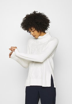 GAP - CABLE TURTLENECK - Strickpullover - snowflake milk