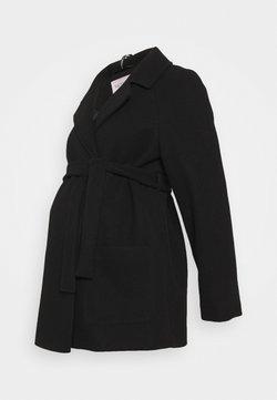 Dorothy Perkins Maternity - SHORT BELTED WRAP COAT - Winterjacke - black