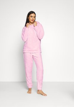 Loungeable - PINK BUNNY HOODED TWOSIE SET - Pyjama - pink
