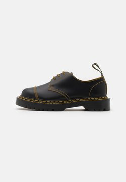 Dr. Martens - 1461 BEX UNISEX - Lace-ups - black/yellow/smooth slice