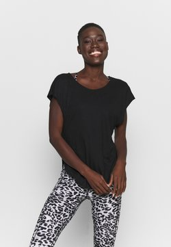 Cotton On Body - ACTIVE SCOOP HEM - T-Shirt basic - black