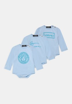 Versace - PRINT SIGNATURE LOGO 3 PACK UNISEX - Regalos para bebés - baby blue