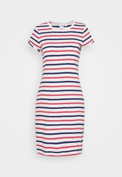 GAP - TEE DRESS - Jerseykleid - blue/red/pink