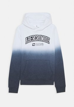 Abercrombie & Fitch - LOGO - Hoodie - white/navy