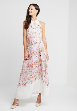 True Violet Maternity - HI NECK MAXI TRAPEZE DRESS - Maxi-jurk - cream border