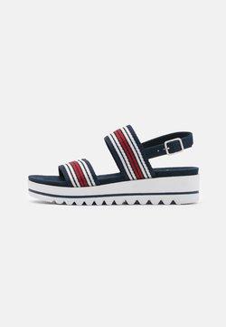 Jana - Korkeakorkoiset sandaalit - navy
