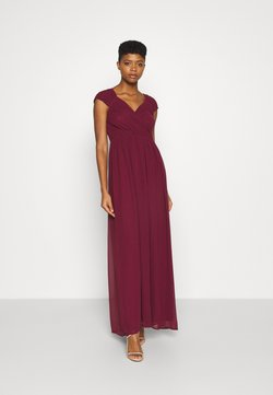 Nly by Nelly - CAP SLEEVE MAXI GOWN - Festklänning - burgundy
