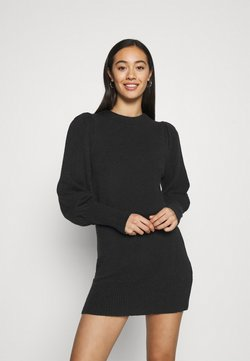 Miss Selfridge - JUMPER DRESS - Gebreide jurk - black
