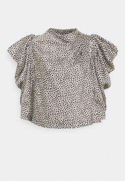 Topshop - STAR COWL NECK BLOUSE - Print T-shirt - mono