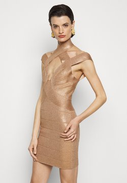 Hervé Léger - BANDAGE MINI DRESS - Vestido de cóctel - rose gold