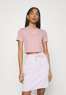 Nike Sportswear - AIR TOP CROP - T-Shirt print - pink glaze/white