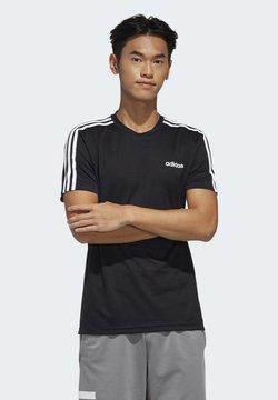 adidas Performance - DESIGNED 2 MOVE 3-STRIPES T-SHIRT - Printtipaita - black