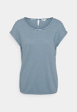 TOM TAILOR - STRUCTURE STRIPE - T-Shirt print - blue/navy/popcorn