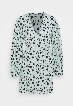 Glamorous - Day dress - mint paint splatters